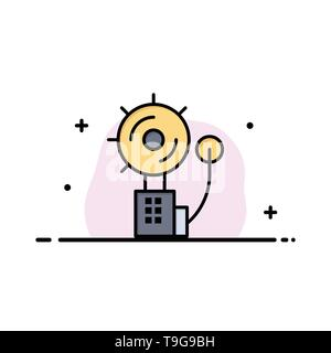 Alarm, Alert, Bell, Fire, Intruder Business Logo Template. Flat Color - Stock Photo