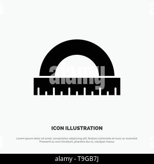 Angle, Construction, Measure, Ruler, Scale solid Glyph Icon vector - Stock Photo