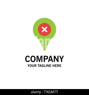Add, Pin, Location, Map Business Logo Template. Flat Color - Stock Photo