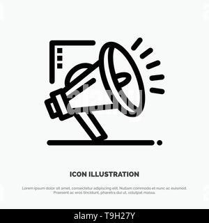 Marketing, Automation, Marketing Automation, Digital Line Icon Vector - Stock Photo