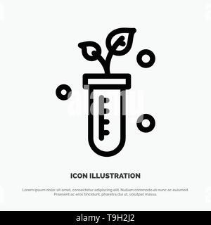 Tube, Plant, Lab, Science Line Icon Vector - Stock Photo