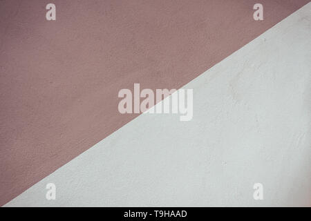 Beige and brown two tone painted wall background. - Stock Photo