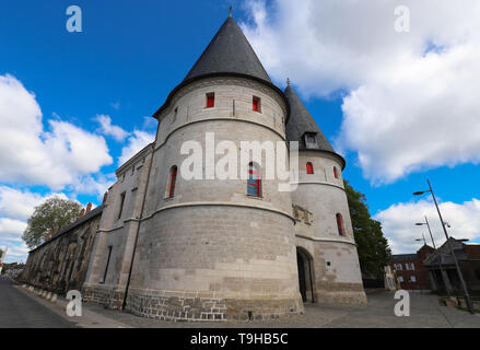 The former Episcopal palace in Beauvais. Beauvais is a historic cathedral city in the northern French region of Picardy. - Stock Photo