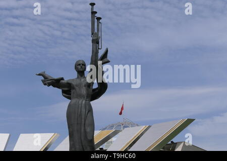 Museum of War in Minsk, view of the sculpture Mother of Motherland, Belarus - Stock Photo
