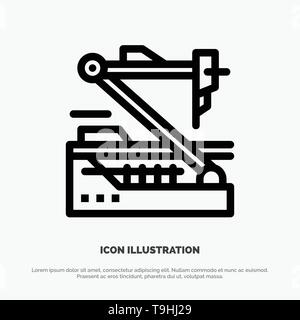 Future, Medical, Medicine, Robot, Robotics Line Icon Vector - Stock Photo