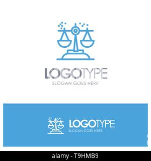 Choice, Conclusion, Court, Judgment, Law Blue outLine Logo with place for tagline - Stock Photo