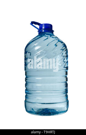 Big bottle of water isolated, white background, Five liters. - Stock Photo