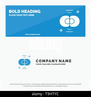 Biochemistry, Biology, Cell, Chemistry, Division SOlid Icon Website Banner and Business Logo Template - Stock Photo