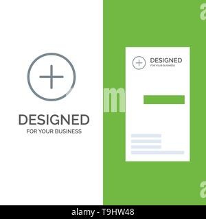 Twitter, Add, Contact Grey Logo Design and Business Card Template - Stock Photo