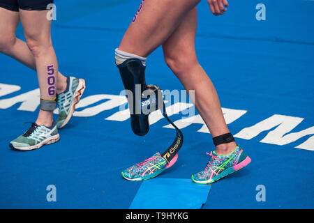 Yokohama, Japan. 18th May, 2019. 2019 ITU World Triathlon, World Paratriathlon Yokohama at Yamashita Park and Minato Mirai, Yokohama.  (Photos by Michael Steinebach / AFLO) Credit: Aflo Co. Ltd./Alamy Live News - Stock Photo