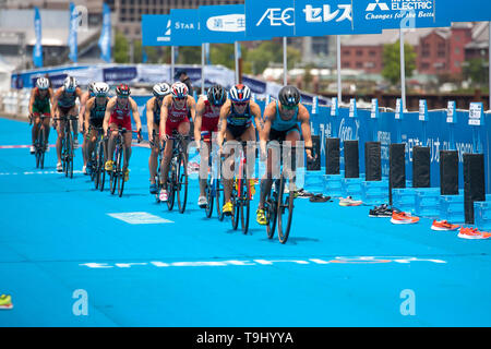 Yokohama, Japan. 18th May, 2019. 2019 ITU World Triathlon, World Paratriathlon Yokohama at Yamashita Park and Minato Mirai, Yokohama. (Photos by Michael Steinebach/AFLO) Credit: Aflo Co. Ltd./Alamy Live News - Stock Photo
