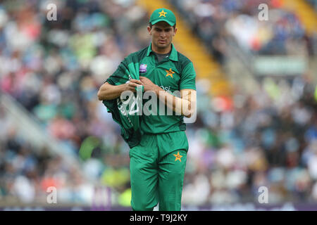 Leeds, UK. 19th May, 2019. Shaheen Afridi of Pakistan during the 5th Royal London One Day International match between England and Pakistan at Headingley Carnegie Stadium, Leeds on Sunday 19th May 2019. Credit: MI News & Sport /Alamy Live News - Stock Photo