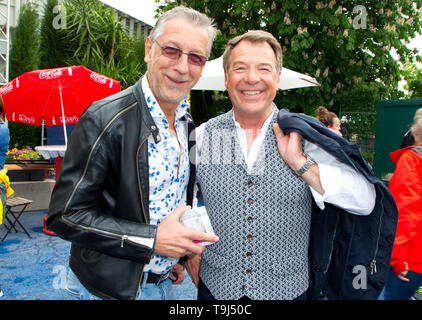 Europapark, Germany - May 19, 2019: Immer wieder Sonntags, ARD / SWR Television Show with Singer Patrick Lindner and Partner Peter Schäfer. Schaefer - Stock Photo