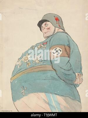 Hermann Goering. Museum: PRIVATE COLLECTION. Author: Kukryniksy (Art Group). - Stock Photo