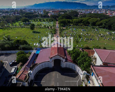 Kerkoff Peucut is the grave of Dutch soldiers who died in the Aceh War, now an attractive tourist destination, especially for foreign tourists - Stock Photo