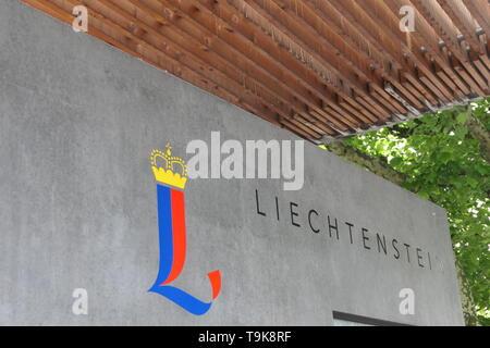 Emblem of the Principality of Liechtenstein - Stock Photo