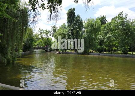 Cismigiu Gardens or Cismigiu Park are a public park near the Center of Bucharest, Romania - Stock Photo