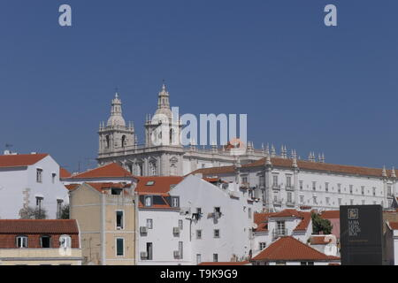 The Monastery of Sao Vicente de Fora, Monastery of St. Vincent Outside the Walls in Lisbon, Portugal - Stock Photo