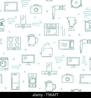 Household appliances seamless pattern. - Stock Photo