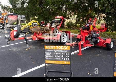 Equipment for rent, The Home Depot, Philadelphia, USA Stock
