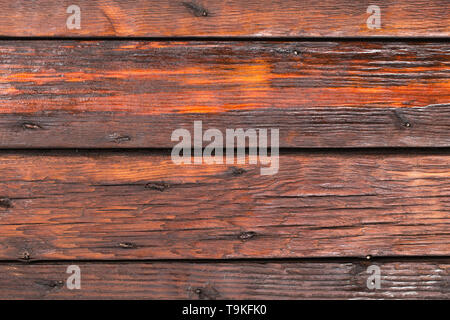 Wooden planks background, weathered, with nails. Top view. Wood texture, background. Copy space. - Stock Photo