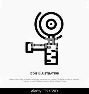 Construction, Grinder, Grinding Line Icon Vector - Stock Photo