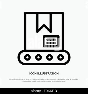 Bulldozer, Construction, Crane Line Icon Vector - Stock Photo