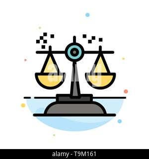 Choice, Conclusion, Court, Judgment, Law Abstract Flat Color Icon Template - Stock Photo