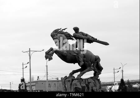 Yervand Kochar. Monument to David of Sasun in Yerevan Armenia - Stock Photo