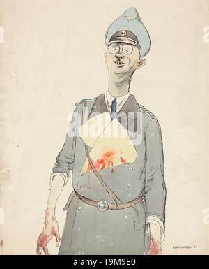 Heinrich Himmler. Museum: PRIVATE COLLECTION. Author: Kukryniksy (Art Group). - Stock Photo