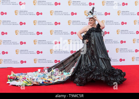 London, UK. 12th May 2019. Daisy May Cooper attends the Virgin Media British Academy Television Awards ceremony at the Royal Festival Hall. Credit: Wiktor Szymanowicz/Alamy Live News - Stock Photo