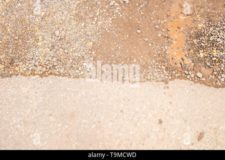 Edge of tarmac road surface close up, in the New Forest, Hampshire, England, UK - Stock Photo