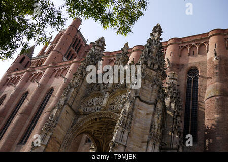 Sainte-Cécile Cathedral, Albi, Tarn, South-Western France, France - Stock Photo