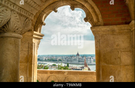 View on hungarian Parliament - Stock Photo