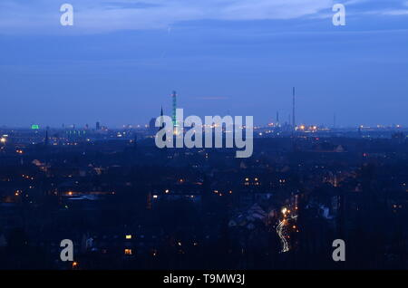 industrial landscape of the ruhr area, Germany - Stock Photo