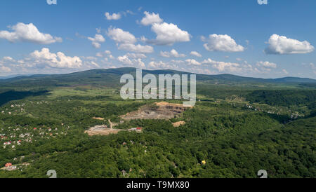 Quarry for the extraction of stone and sand. - Stock Photo