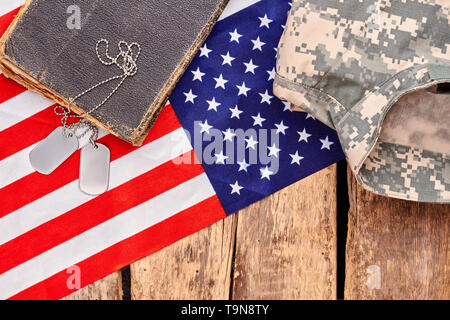 US army soldier's belongings. - Stock Photo