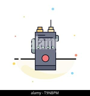 walkie, talkie, communication, radio, camping Flat Color Icon Vector - Stock Photo
