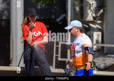 RIGA, Latvia. 19th May, 2019. TET RIGA MARATHON 2019. The only IAAF Gold Label marathon in Northern Europe. Credit: Gints Ivuskans/Alamy Live News - Stock Photo