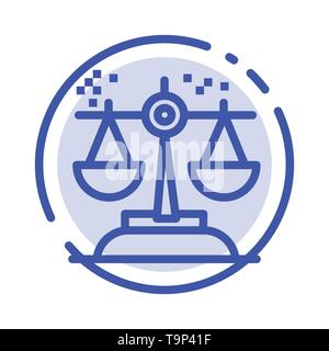 Choice, Conclusion, Court, Judgment, Law Blue Dotted Line Line Icon - Stock Photo