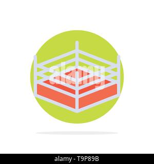 Boxing, Ring, Wrestling Abstract Circle Background Flat color Icon - Stock Photo