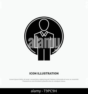 User, Id, Login, Image Abstract Flat Color Icon Template