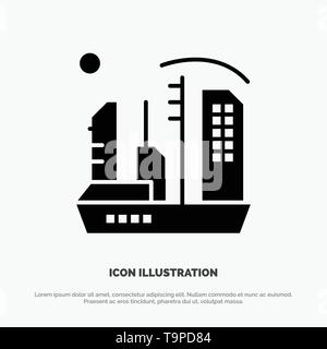 City, Colonization, Colony, Dome, Expansion solid Glyph Icon vector - Stock Photo