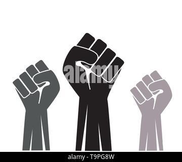 Fist up icon vector illustration - Stock Photo