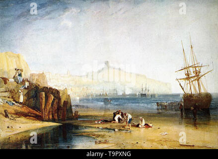 Joseph Mallord William Turner - scarborough town castle boys catching crabs 1811 - Stock Photo