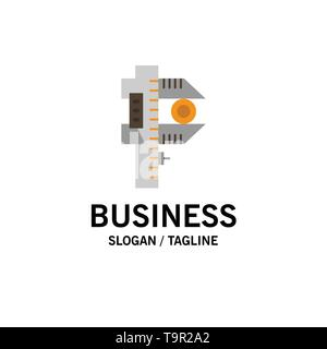 Measuring, Accuracy, Measure, Small, Tiny Business Logo Template. Flat Color - Stock Photo