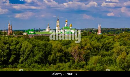 Aerial View to Epiphany Staro-Golutvin cloister in Kolomna, Moscow region, Russia - Stock Photo