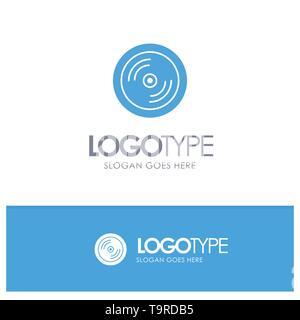 Cd, Dvd, Disk, Education Blue Logo vector - Stock Photo