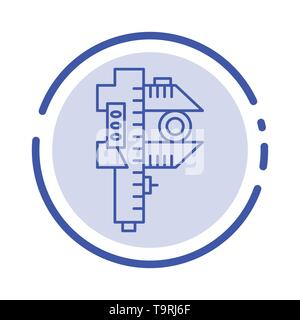 Measuring, Accuracy, Measure, Small, Tiny Blue Dotted Line Line Icon - Stock Photo