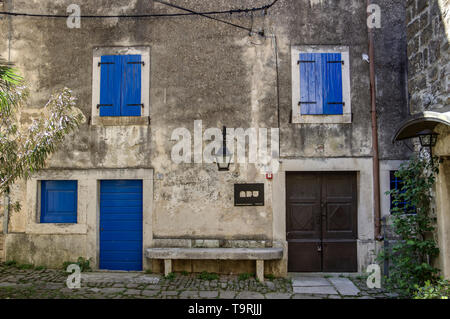 Istria, Croatia - One of departments of the Academy of Dramatic Art (ADU) University of Zagreb placed in the ancient town Grožnjan (Grisignana) - Stock Photo
